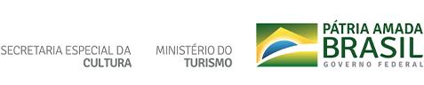Logo Governo federal, Ministério do Turismo, Secretaria Especial da Cultura
