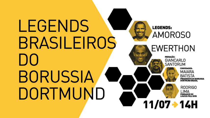Legends Brasileiros - Borussia Dortmund - com Amoroso e Ewerthon